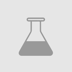 Test tube vector icon eps 10. Lab glass simple isolated pictogram.
