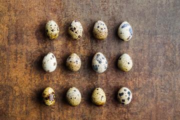Fresh guail eggs.