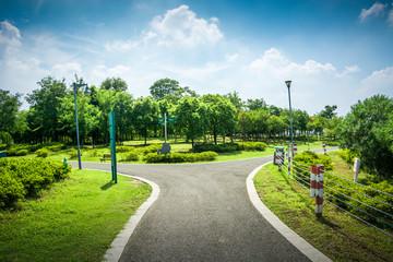 walkway in garden at bangkok,Thailand