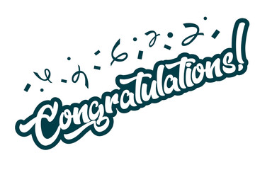 Congratulations greeting card banner