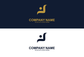 Abstract wings logo design