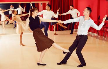 Couples dancing active swing