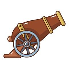Automatic gun icon, cartoon style.