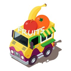 Fruits machine icon, isometric style