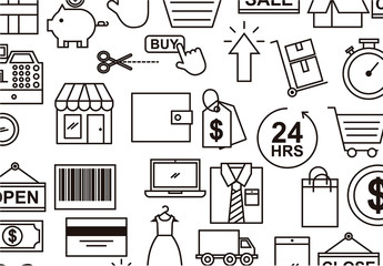 E-Commerce Icon Background Pattern 1