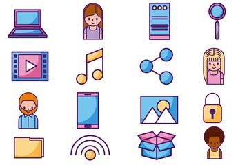Social Media Icon Set 10