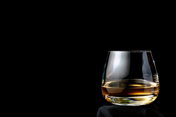 The glass of cognac or brandy.