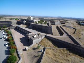 Fuerte de Santa Lucía en Elvas (Portugal) ciudad historica en el distrito de Portalegre en la región del Alentejo a pocos kilometros de Badajoz (España) Fotografia con drone