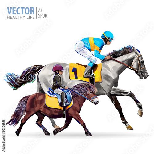 Jockey On Horse Boy Riding A Pony Equestrian Sport Champion