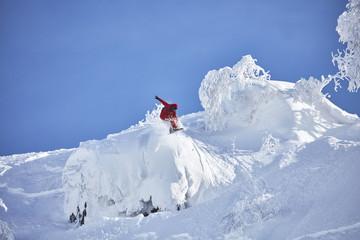 Snowboarder in Hokkaido, Japan Wall mural