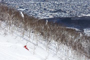 Snowboarder in Hokkaido