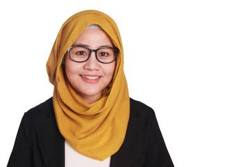Muslim Businesswoman Standing Smiling
