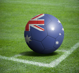 Soccer ball ball with the national flag of AUSTRALIA ball with stadium