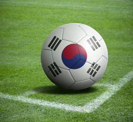 Soccer ball ball with the national flag of KOREA ball with stadium