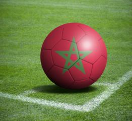 Soccer ball ball with the national flag of MOROCCO ball with stadium