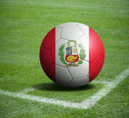 Soccer ball ball with the national flag of PERU ball with stadium