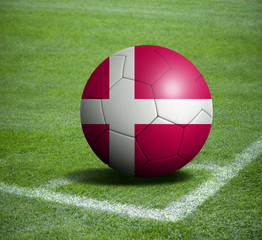 Soccer ball ball with the national flag of DENMARK ball with stadium