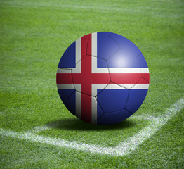 Soccer ball ball with the national flag of ICELAND ball with stadium