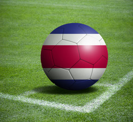 Soccer ball ball with the national flag of COSTA RICA ball with stadium