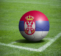 Soccer ball ball with the national flag of SERBIA ball with stadium
