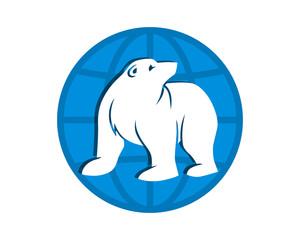 globe bear fauna animal wildlife image vector icon silhouette