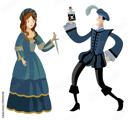 Romeo And Juliet Suicide Stock Image And Royalty Free Vector Files