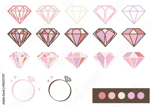 宝石 デザインパーツ素材パステルカラーfotoliacom の ストック画像