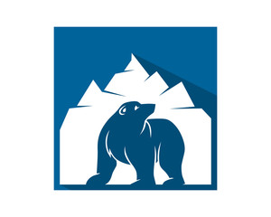 mountain bear grizzly polar beast animal fauna image vector icon logo silhouette
