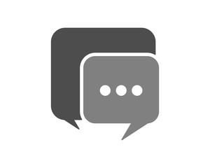 gray chat talk conversation icon image logo symbol icon