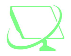 computer screen green technology computer laptop image vector icon