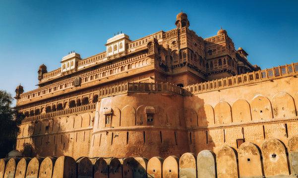 Junagarh Fort exterior structure at Bikaner, Rajasthan India.