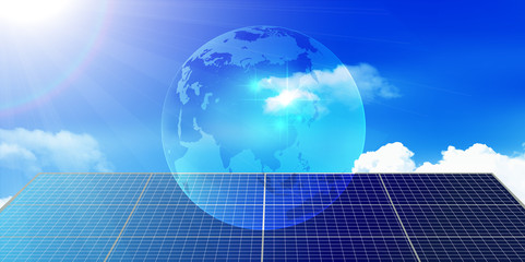 地球 ソーラー 空 背景