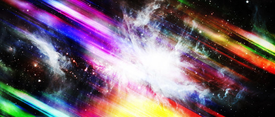 Colorful motion with star on abstract background. Elements of this image furnished by NASA.