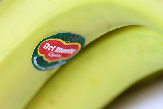 Illustration photo of the Del Monte logo on a banana