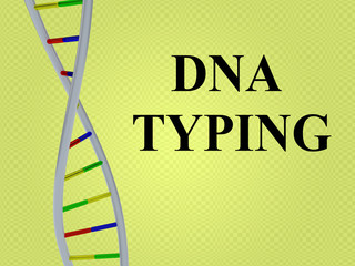 DNA TYPING concept