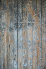 Blue old wooden panel