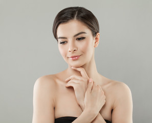 Attractive Female Face. Beautiful Woman, Skincare Concept