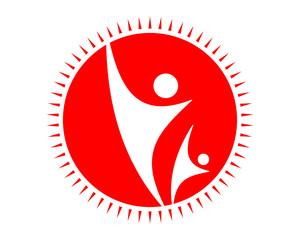 red figure icon image vector icon logo symbol