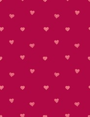 hand draw heart vector seamless pattern