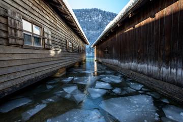 Eisschollen am Königssee