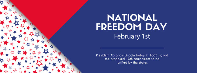 National freedom day banner. Facebook cover size