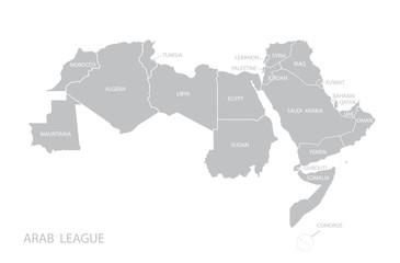 Map of Arab League. Vector
