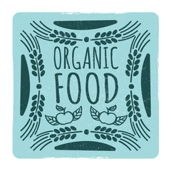Organic food vintage banner