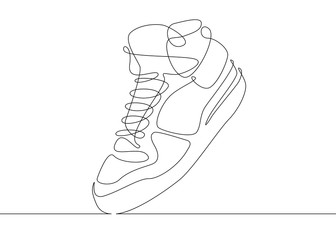 continuous line drawing sneakers