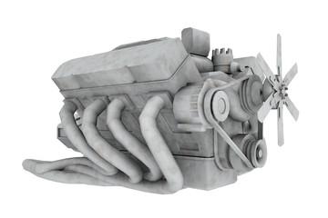 Achtzylindermotor, Freisteller