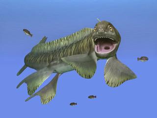 Prehistoric shark Orthacanthus