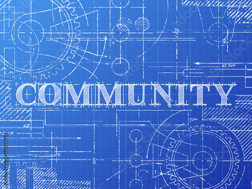 Community blueprint technical drawing stock image and royalty free community blueprint technical drawing malvernweather Images