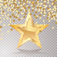 confetti star gold