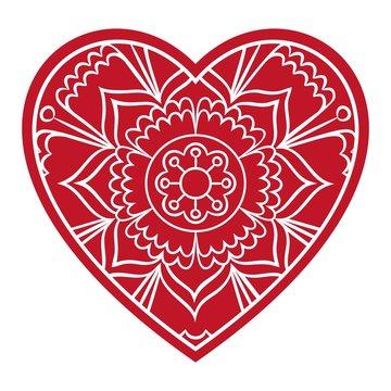 Doodle Floral Heart