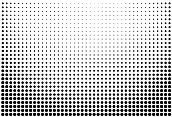 Abstract futuristic halftone pattern. Comic background. Dotted backdrop with circles, dots, point large scale.